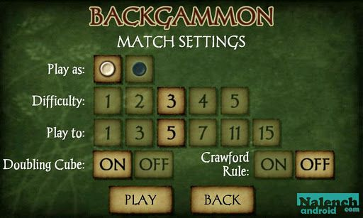 Скачать Backgammon Free для android бесплатно