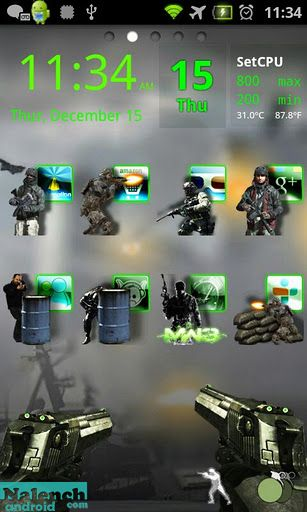 Скачать Call of Duty MW3 Theme Go L ex для android бесплатно