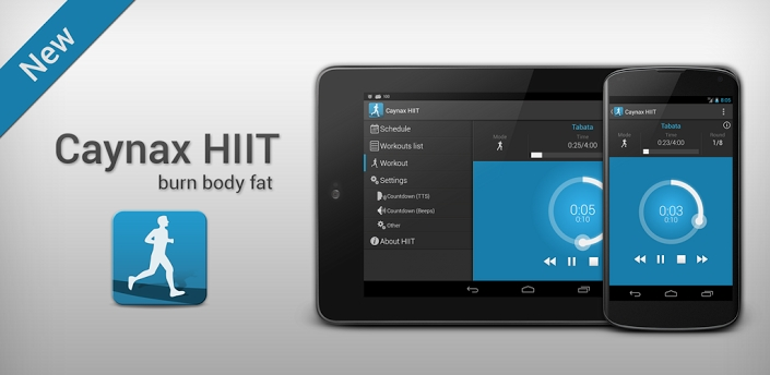 Caynax HIIT - interval workout для android бесплатно