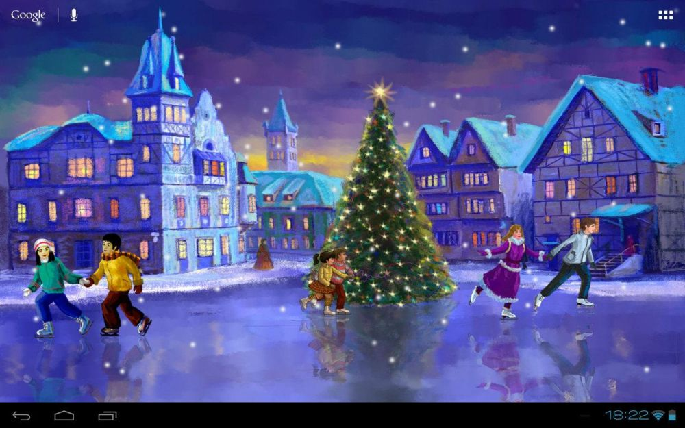Скачать Christmas Rink Live Wallpaper для android бесплатно