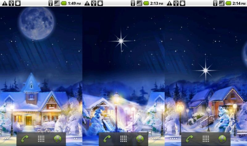Скачать Christmas Silent Night LWP для android бесплатно