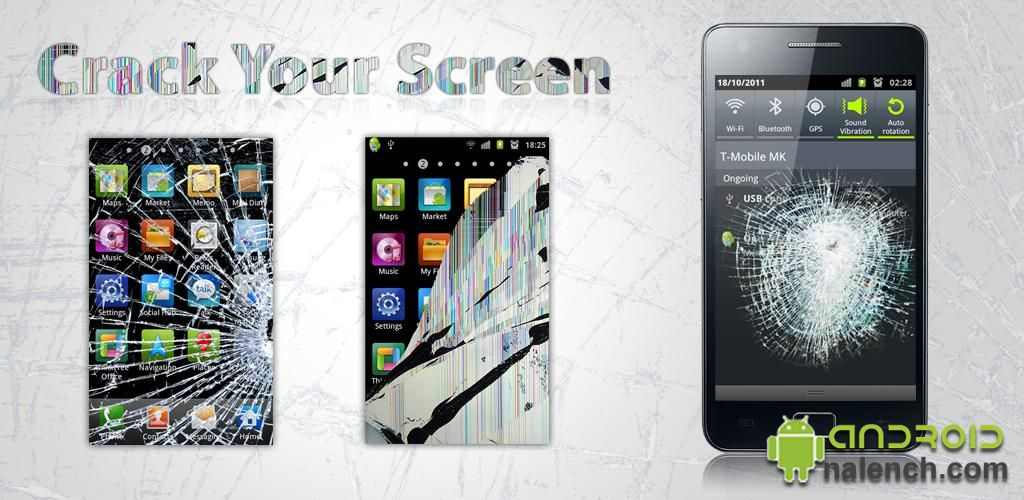 Crack Your Screen для android бесплатно