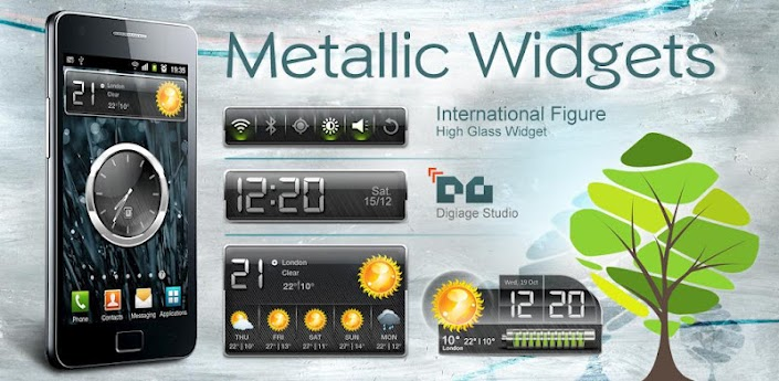 HD Metallic Widgets для android бесплатно