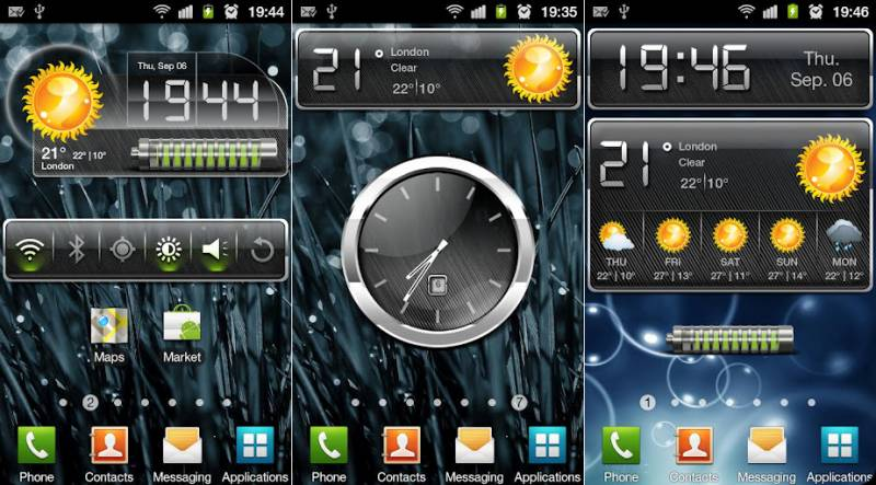 Скачать HD Metallic Widgets для android бесплатно