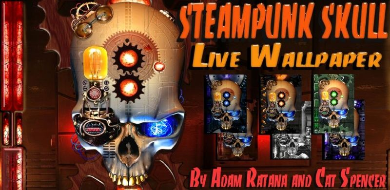 Steampunk Skull Live Wallpaper для android бесплатно