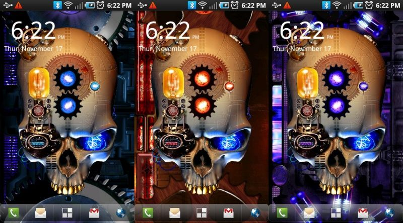 Скачать Steampunk Skull Live Wallpaper для android бесплатно