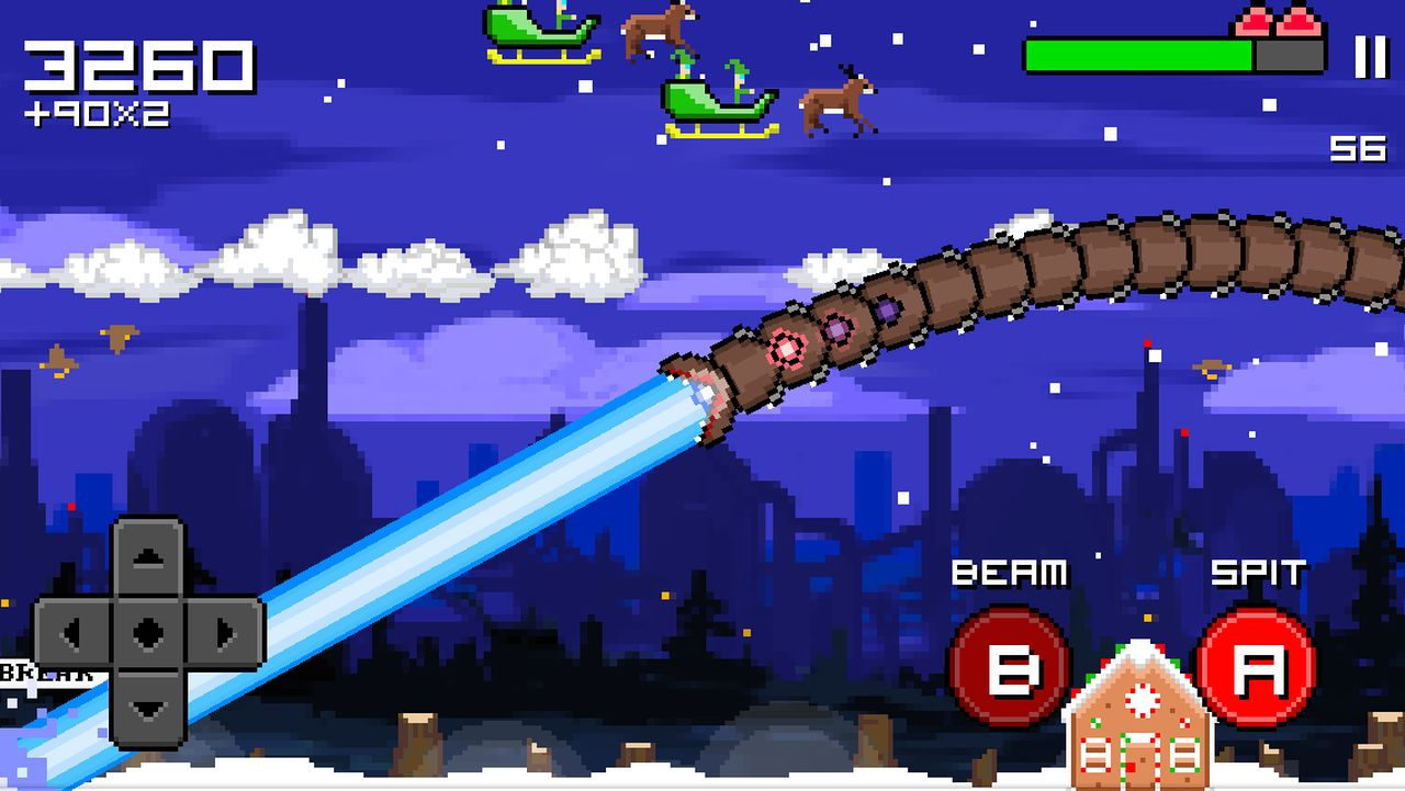 Скачать Super Mega Worm Vs Santa: Saga для android бесплатно
