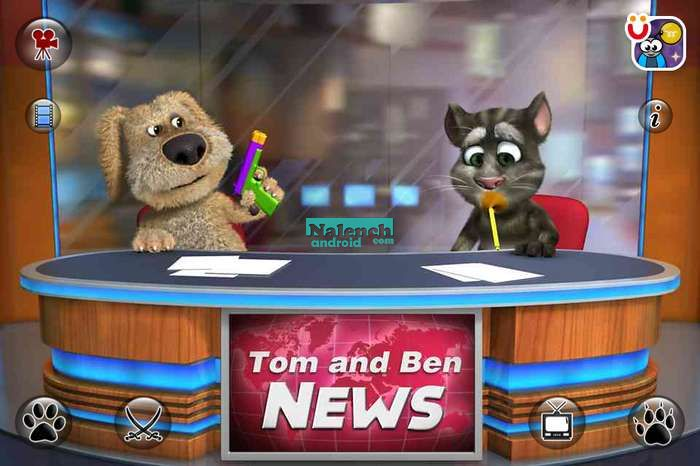 Скачать Talking Tom & Ben News для android бесплатно
