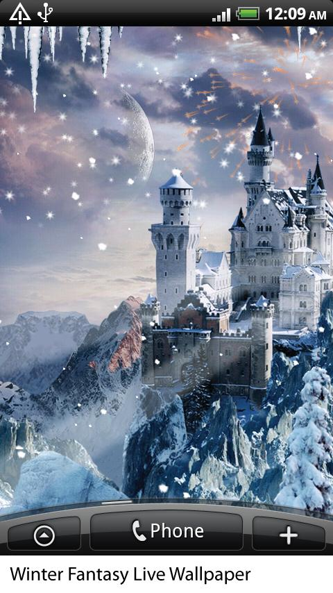 Скачать Winter Fantasy Live Wallpaper для android бесплатно