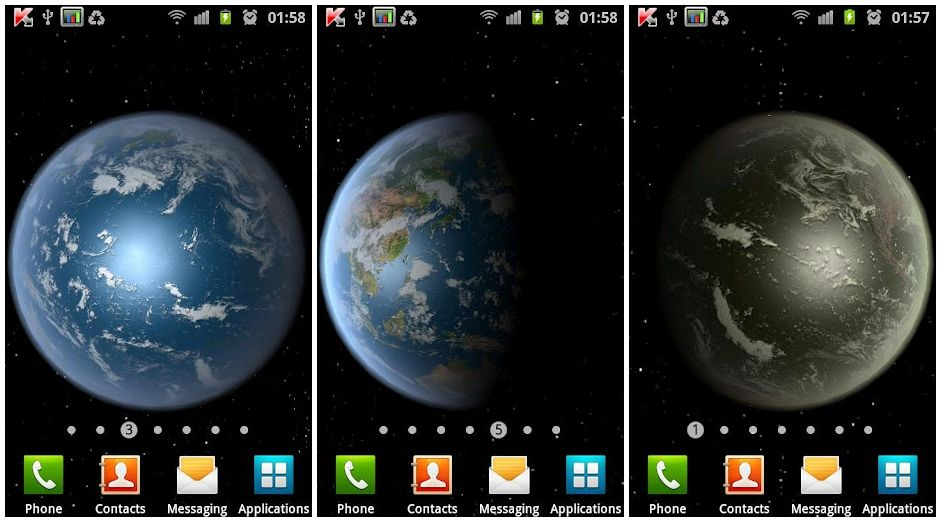 Скачать Earth HD live wallpaper для android бесплатно