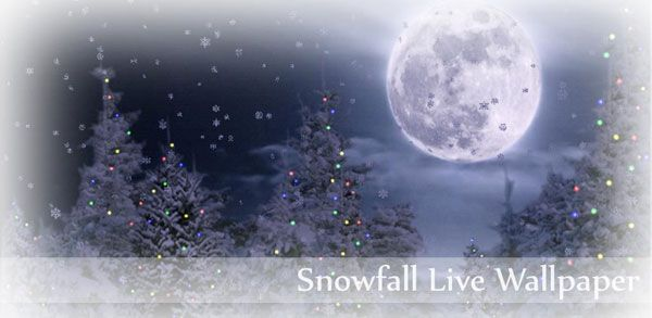 Snowfall Live Wallpaper для android бесплатно