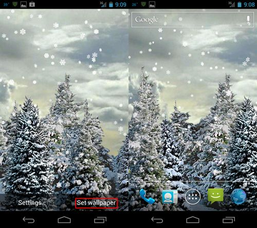 Скачать Snowfall Live Wallpaper для android бесплатно
